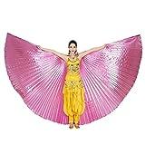 style_dress Ägypten Belly Wings Für Bauchtanz Tanz Schleier Flügel Zubehör Tanzen Kostüm Bauchtanz Zubehör No Sticks Kostüme Fasching Karneval (Rosa#1)