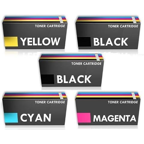 Prestige Cartridge TN241 - Paquete de 5 tóneres de tinta para Brother, multicolor