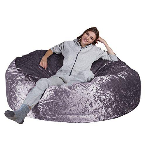 Lounge pug®, pouf sacco gigante xxxl 'mega mammut', velluto vintage - lavanda