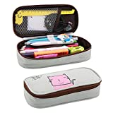 Shinewings Pencil Pouch, Big Capacity Canvas Pencil Pouch Stationery Organizer Multifunction Cosmetic Makeup