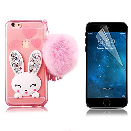 iPhone 6 Plus Cover, Bonice iPhone 6S Plus Custodia (5.5), Ultra Slim Thin Morbido TPU Clear Trasparente Animale Cat Case model 4