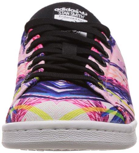 adidas Stan Smith, Baskets Basses femme Multicolore (Core Black/Core Black/Ftwr White)