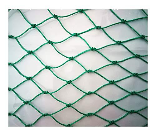 Lyy-Rope-Net Sicherheitsnetz Schutznetz Fischernetz Hühner- und Geflügelzuchtnetz, Gartenteich im Freien Absturzsicherungsnetz (Spezifikation: 9 Stränge, 2 cm Loch) (Farbe: Grün) (Size : 4 * 10m)