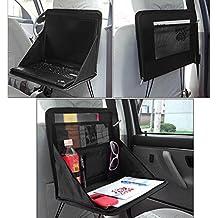 Kabalo plegable Asiento trasero del coche de almacenamiento Organizador con soporte para portátil bandeja de trabajo / Mesa de preparación. Trabajar durante el viaje!
