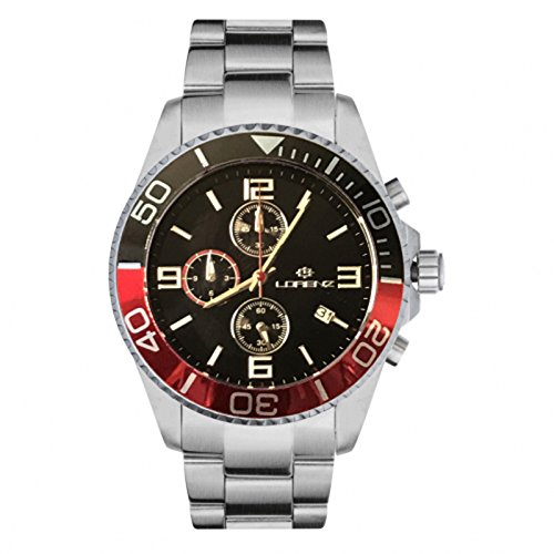 Reloj LORENZ Cronógrafo 030049GG Hombre Acero Rojo y Negro Sub 100Mt