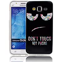 Vandot TPU Coque pour Samsung Galaxy J5 J500 2015 Coque TPU Silicone Case Silicone Souple Soft Cover Transparent 3D TPU Silicone Doux TPU Case Cover Housse Etui - Motif Don't touch my phone