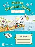 Kleine Deutsch-Stars: Vorübungen zum Schreiben und Lesen, 1. Schuljahr. Übungsheft mit Lösungen
