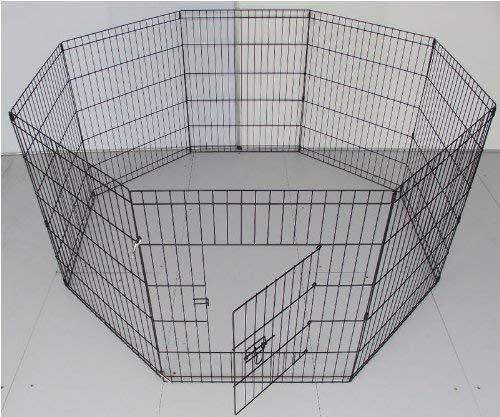 BUNNY BUSINESS 8 Panel Box per i Conigli/Guineas/Cani e Gatti, Media, Nero