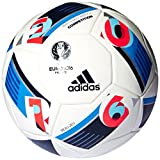 adidas Herren Fußball UEFA Euro 2016 Beau Jeu Competition, white/bright blue/night indigo, 4, AC5418