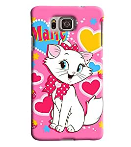 Blue Throat Cat Name Marie Printed Designer Back Cover For Samsung Galaxy Alpha