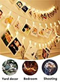 50 LED Photo Clips String Lights,17 ft LED Clips Light Warm White Battery Powered, Fairy Lights for indoor/outdoor Hanging Photos Pictures Cards and Memos, for Bedroom Dorm Decoration