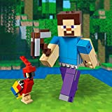 LEGO- Bigfigurine Steve et Son Perroquet Minecraft Jeux de Construction, 21148, Multicolore