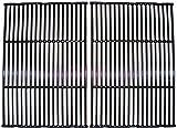 Music City Metals 61812 Grillrostset aus glänzendem Gusseisen für Gasgrills der Marken Broil King und Sterling - Schwarz (2-teilig)