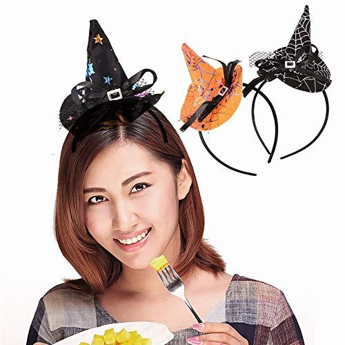 Preisvergleich Produktbild 6 Packungen Hexe Hüte Halloween Mini Stirnband Frau Spider-Kappen Haargummis Verkleiden sich Zubehör Haarschmuck Party
