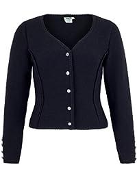 Isar-Trachten Damenstrickjacke 57102 schwarz Baumwolle hochwertig Jankerl Tracht