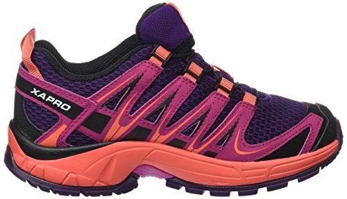 Salomon Enfant XA Pro 3D Chaussures de Course à Pied et Trail Running Violet (Cosmic Purple/deep Dalhia/coral Pun)