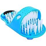 HERCHR Limpiador De Pies De Baño, Cepillo de Limpieza de pies, Zapatillas De Baño Limpiador Zapatillas con Ventosas Antidesli