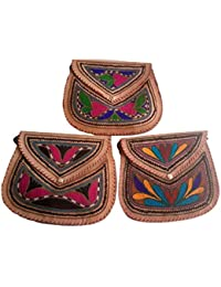 Generic Hand Made Embroider Sling Bag For Womens - (Pack Of 3)