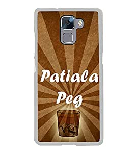 Patiala Peg 2D Hard Polycarbonate Designer Back Case Cover for Huawei Honor 7 :: Huawei Honor 7 Enhanced Edition :: Huawei Honor 7 Dual SIM