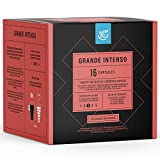 Marca Amazon- Happy Belly - Cápsulas de café Grande Intenso compatibles con NESCAFÉ* DOLCE GUSTO*, UTZ, 3x16 cápsulas (48 porciones)
