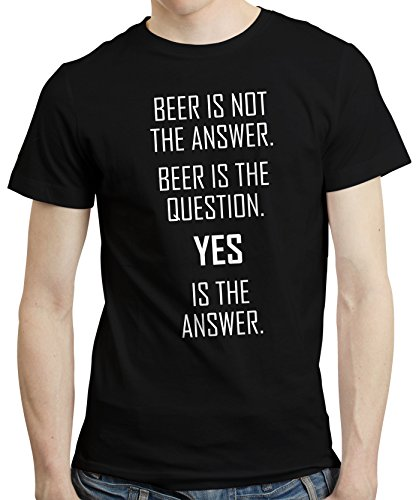 Beer-Is-Not-The-Answer-T-shirt-Shirt-Tee-Funny-Pub-Drinking-Beer-Lover-Gift
