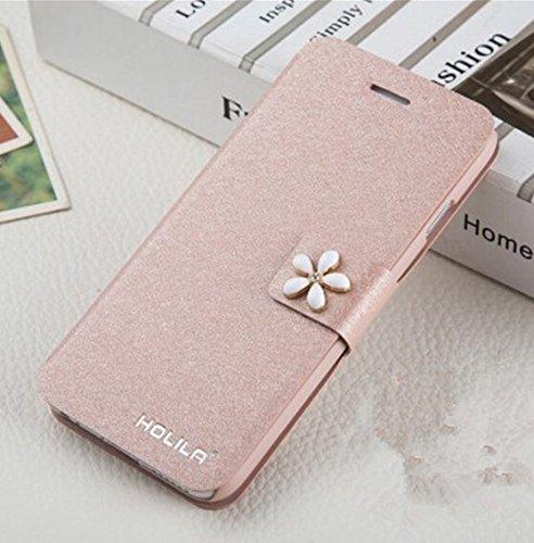 Funda para móvil ParaCity (elegante diseño de estilo libro, piel sintética, con compartimento para tarjetas y función atril), piel sintética, Rosa, iPhone 6/6s
