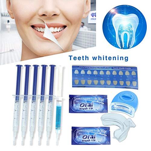 Weiß Professionelle Bleaching-system (Ingeniously Professionelles LED-Licht zum Aufhellen von Zähnen für weißere Zähne Mit 4 Smart Whitening Gel-Röhrchen Wird das Smart Teeth Whitening-System effektiv aufgehellt)