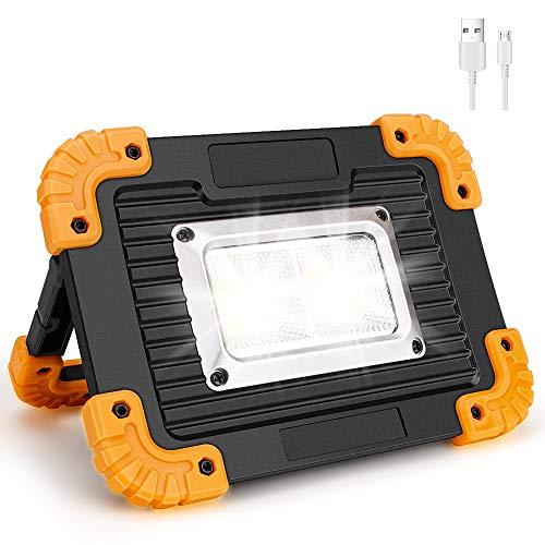 Coquimbo 30W Lampada LED Esterni, 1000LM LED Lampada da lavoro Ricaricabile Impermeabile, 4 modalità Regolabili for riparazione auto, campeggio, escursionismo e emergenza (Batteria al litio integrata)