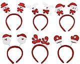 (Pacchetto di 6) Donne Ragazze Carino Natale Decorazione della fascia Santa Claus Snowman Festival Banda dei capelli Accessori per capelli Regalo di Natale