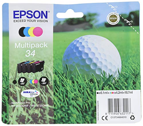 Epson Multipack 4-farbig 34 Golfball DURABrite Ultra Ink