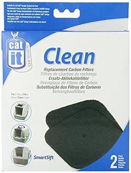 Catit Chat Recharge 2 Filtres Charbon pour Maison de Toilette
