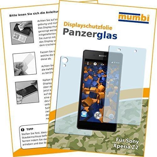 mumbi Hart Glas Folie kompatibel mit Sony Xperia Z2 Panzerfolie, Schutzfolie Schutzglas (2x)