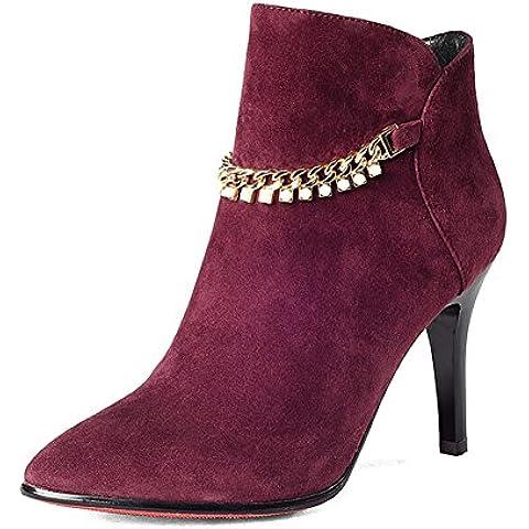 LYF KIU Autunno/inverno moda stivali/ tacchi a spillo stivali/ Stivaletti di pelle di pecora/ scarpe (Classic Short Pelle Di Pecora)