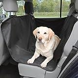 Yommy® YM-1700 - Coperta per auto per cani, per sedile posteriore dell'auto, protezione antiscivolo, impermeabile e lavabile, con alta capacità di carico rosso
