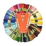 Stickgarn, Wartoon MultifarbenEmbroidery Thread Nähgarne Stickerei Set für Kreuzstich Basteln Freundschaftsbänder(zufällige Farbe) (100 Farben)