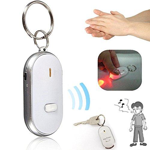 Wireless RF Remote Key Finder Schlüsselbund mit LED-Taschenlampe, RF-Locator, Fernbedienung, Haustier, Zelle, Wireless-Empfänger-Artikel, Wallet Locator Wireless Remote Pocket