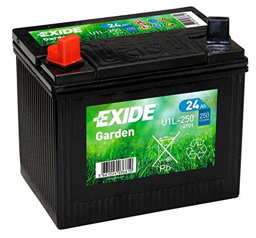 Exide U1L-250 Batteria per tagliaerba 12V 24Ah 4901
