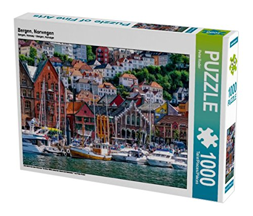 Preisvergleich Produktbild Bergen, Norwegen 1000 Teile Puzzle quer (CALVENDO Orte)