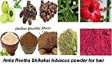 #8: Amla Reetha Shikakai Bhringraj and hibiscus powder for hair (900 Grams)