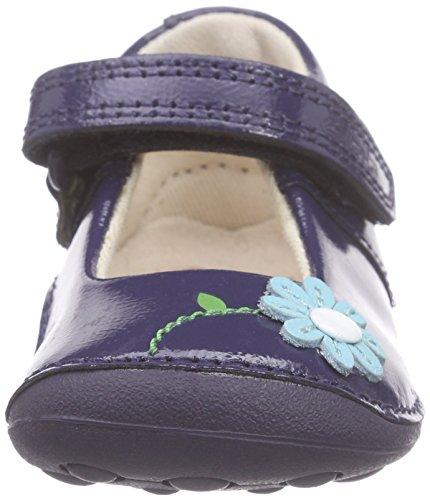 Clarks Kids - Little Jam, Sneaker Bambina Blu (Navy Patent)
