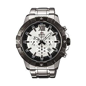 Orient Reloj Cronógrafo para Hombre de Cuarzo con Correa en Acero Inoxidable FTW03002W0
