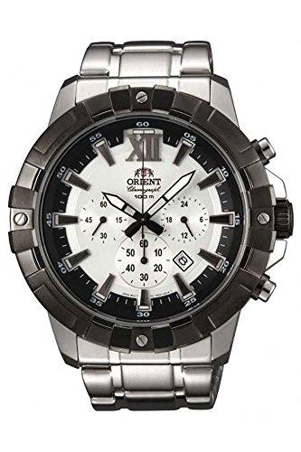 Orient Men's Chronograph Quartz Watch with Stainless Steel Strap FTW03002W0