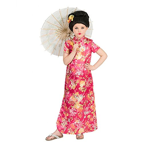 Kinderkostüm Chinesin Hanako 116-152 Mädchen Kleid pink/bunt Fasching -