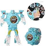 Umiwe 3 in 1 Trasformatore Guarda Giocattoli Proiezione Bambini Digital Robot Guarda Giocattoli educativi educativi creativi per 3-12 Anni Ragazzo Ragazza Regalo di Natale (Blu)
