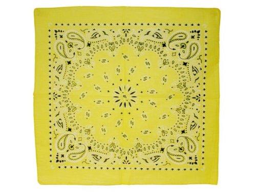 Bandana di colori e motivi diversi (BA-164) giallo multifunzione classica foulard scialle collo rocker biker motociclista motorcycle pirata accessorio hip hop cappellino cowboy bracciale