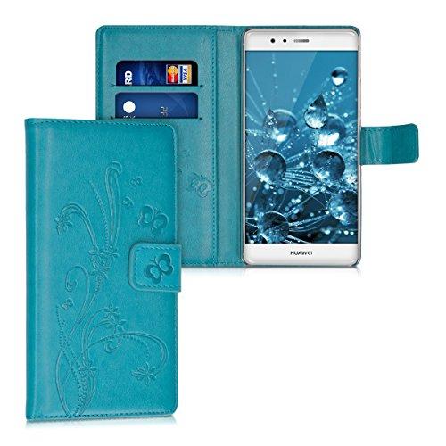 kwmobile Huawei P9 Plus Hülle - Kunstleder Wallet Case für Huawei P9 Plus mit Kartenfächern & Stand
