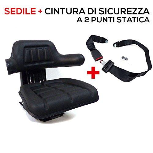 Sedile Universale Trattore + Cintura di Sicurezza + Certificazione (cod. RM300 + RM20 + 12615)