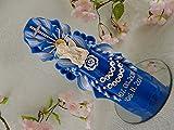 Geschnitzte Taufkerze Kommunionkerze blau für Junge mit Schutzengel 3D inkl. Name und Datum