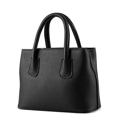 Weibliche Tasche Wilde Einfache Litchi Muster Kleine Frische Damen Handtasche Messenger Bag Pink