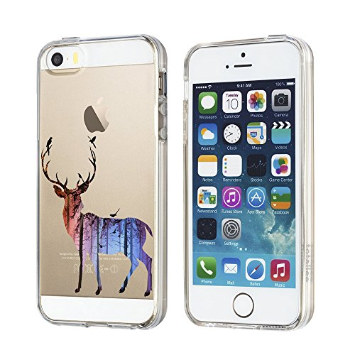 Custodia iPhone 5 Cover, iPhone 5s Clear Soft TPU Protective Case Back Cover with Cute Cartoon Pattern [Slim Fit] [Ultra Thin] for inches iPhone 5s (8) 2